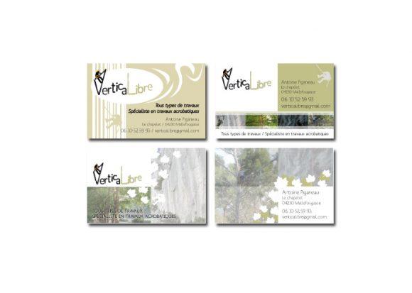 Cartes de visite de la société VerticaLibre